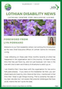 Lothian Disability News - Summer 2021 Edition Thumbnail